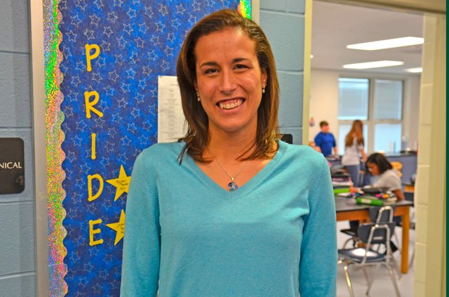 Teacher of the Year Maya Britt