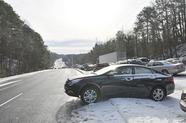 Snow day 280 traffic