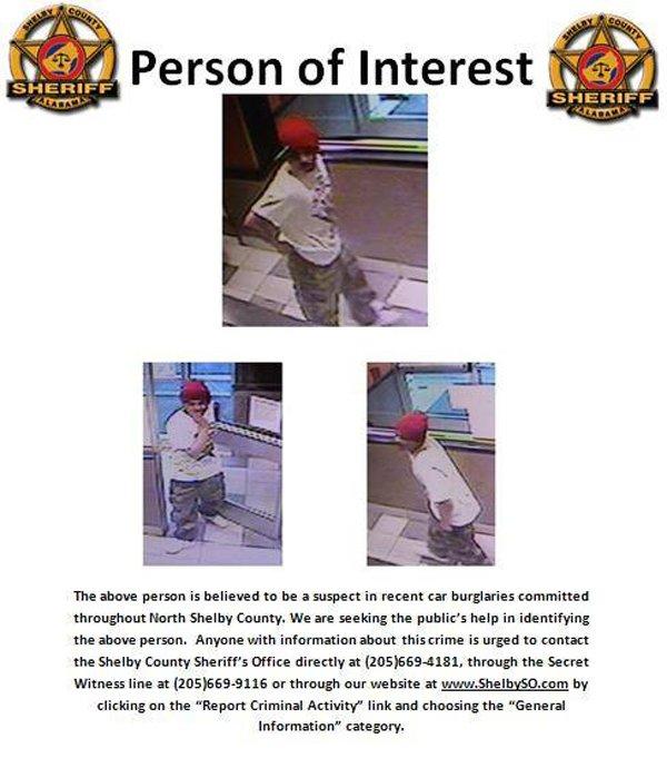 Shelby SO burglary suspect Feb 2014