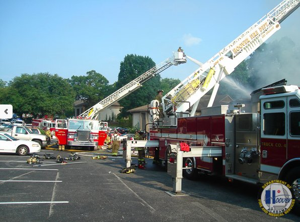 Hoover fire dept ladder trucks