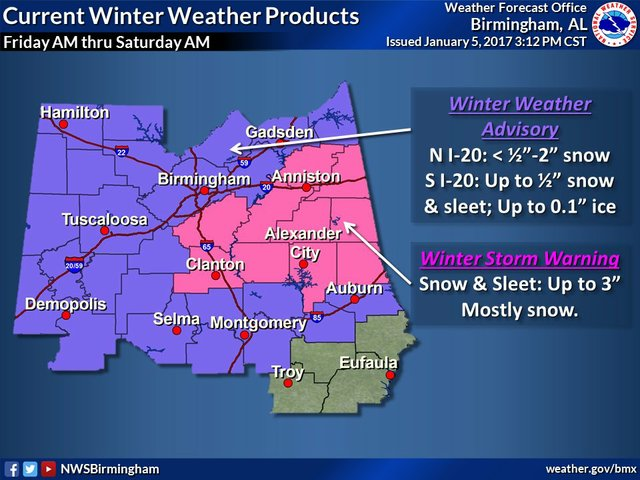 Jan 2017 Winter Weather