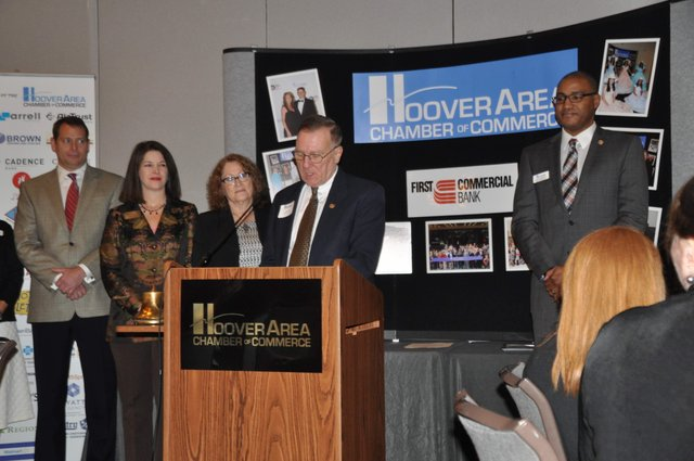 Hoover chamber officer installation 1-19-17