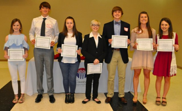 South Shelby Chamber scholarship winners 2017