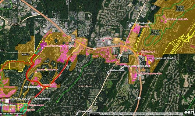 Hoover bicycle pedestrian plan map 3
