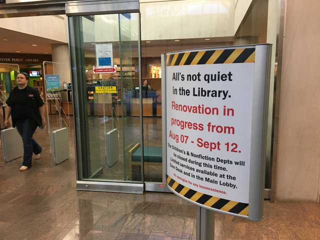 Hoover library renovation Aug 2017