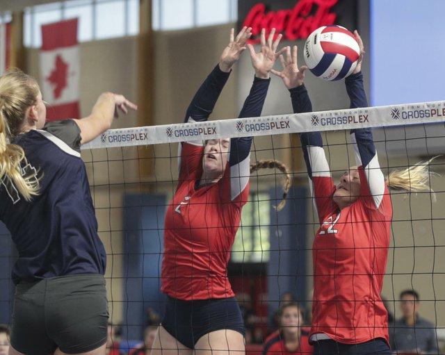 OMHS VS Enterprise Volleyball QuarterFinals 2017