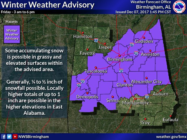 winter weather advisory 12-7-17 1:45pm