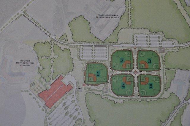 Hoover Met baseball/softball complex layout