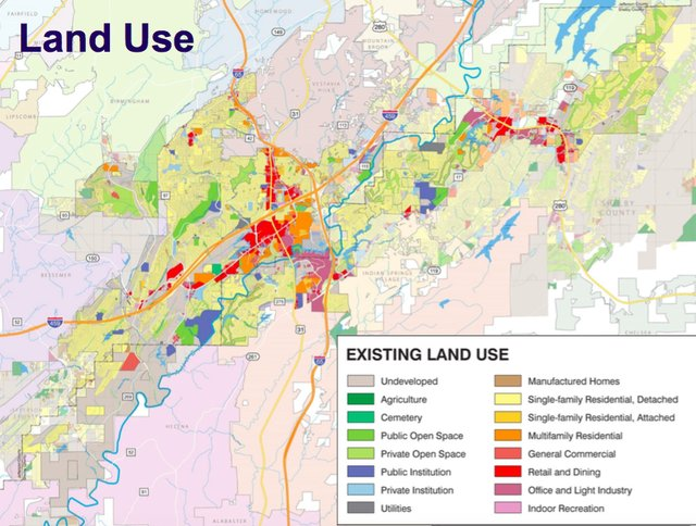 Hoover land use map