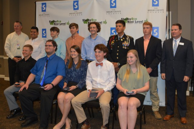 Career Ready Student Nominees at Shelby County's Student & Educator of the Year Luncheon on April 24, 2019.