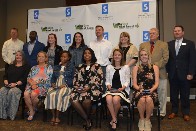 Middle School Educator Nominees at Shelby County's Student & Educator of the Year Luncheon on April 24, 2019.