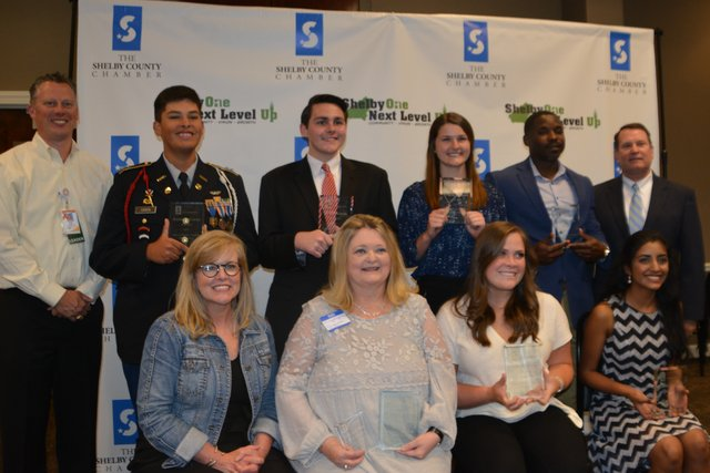 Group winners for Shelby County Chamber's Student & Educator of the Year