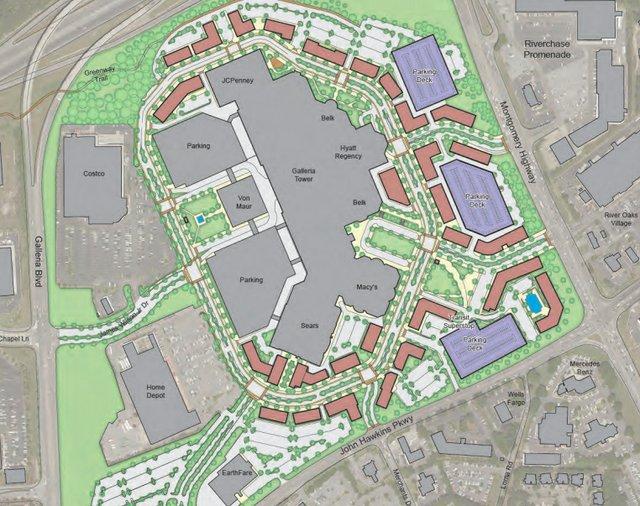Galleria redevelopment concept July 2019