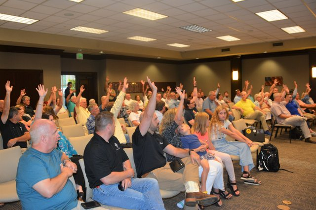 Crowd at Chelsea City Council meeting