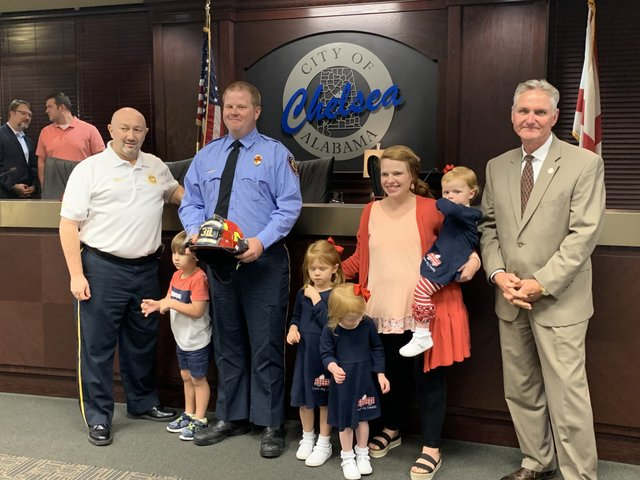 Billy Ricketts with the Chelsea Fire Department is promoted to Lieutenant