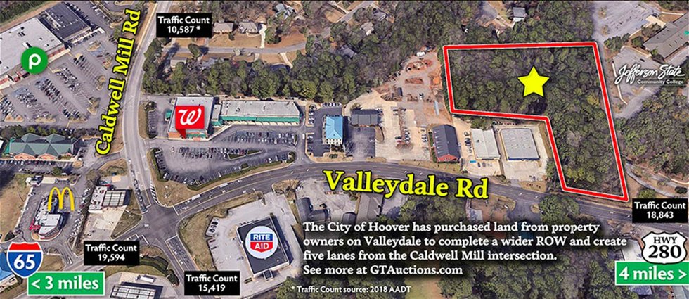 Valleydale auction map