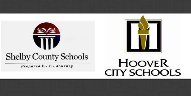 Shelby County and Hoover school system logos