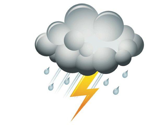 Weather thunder storm