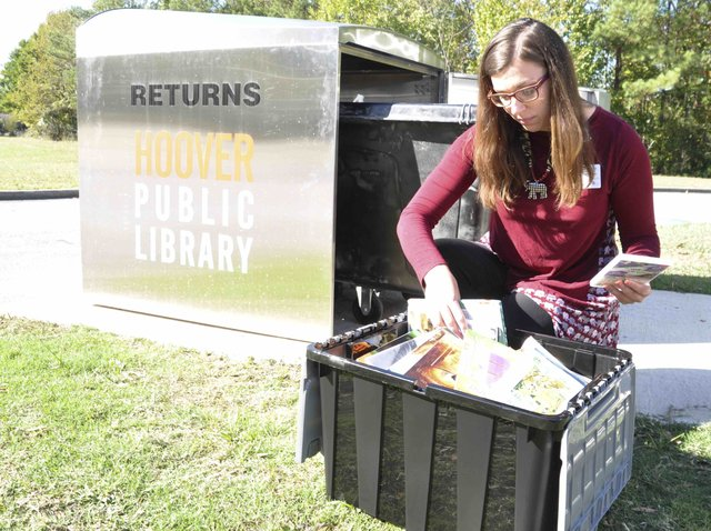Hoover library book drop 10-25-19