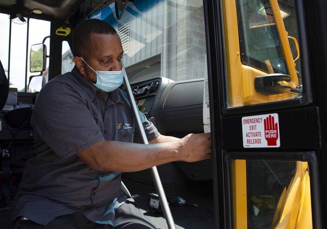 Hoover school bus sanitation 7-20-20