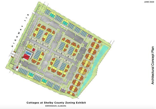 Capstone 119 cottages concept plan