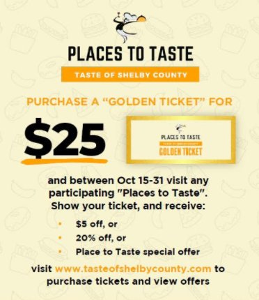Places to Taste Shelby County