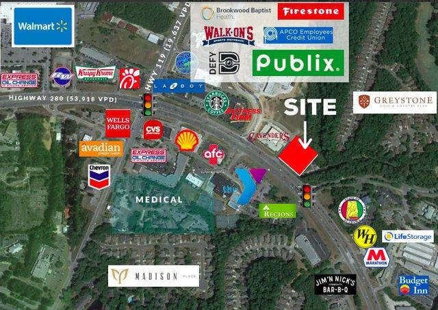Cahaba Market locator map
