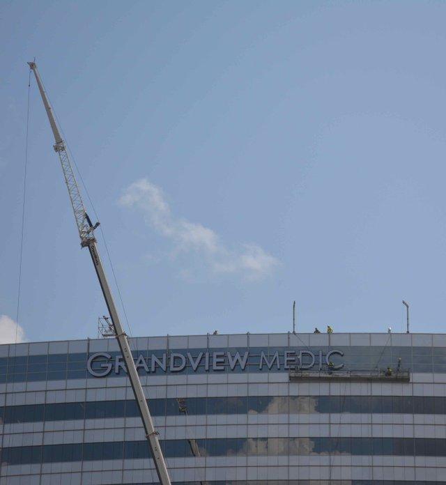 Grandview installs signage