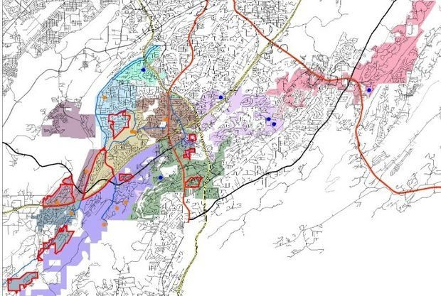 Hoover City Schools rezoning map August 2014.jpg