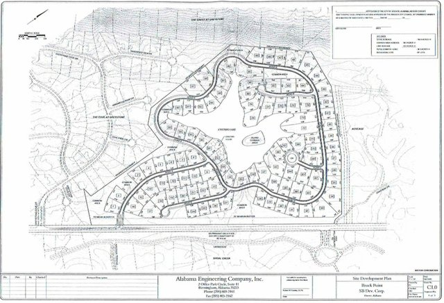 Brock Point subdivision plan