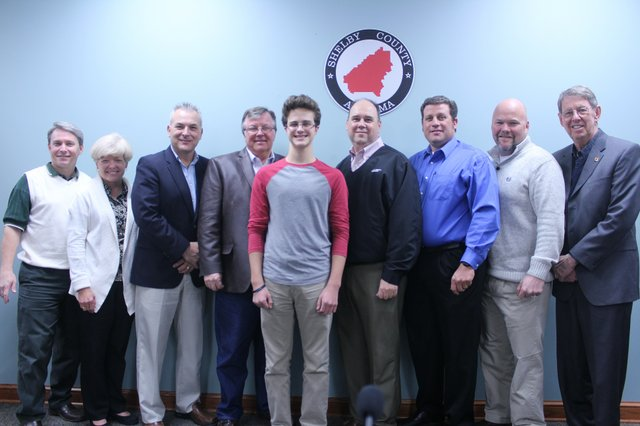 Shelby County Commissioners recognize Life Scout