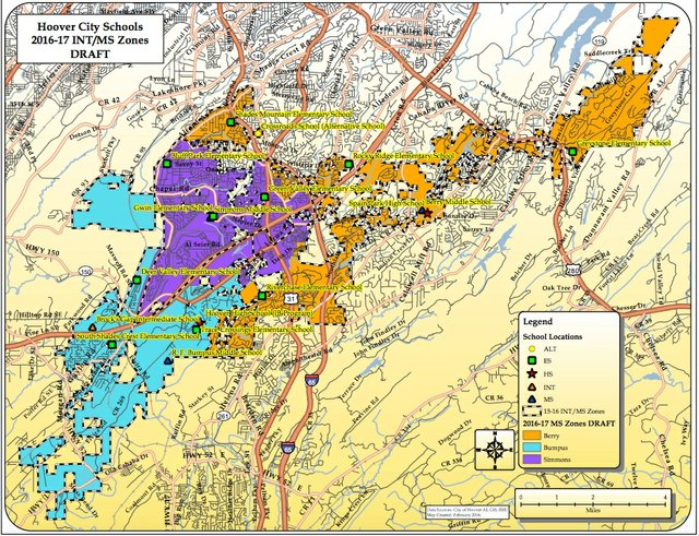 Hoover middle school 2016-17 zoning map draft 2-4-16