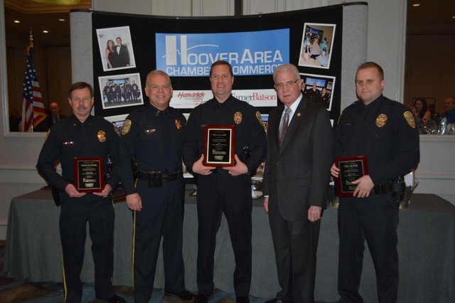 Hoover police officers of the year 2015