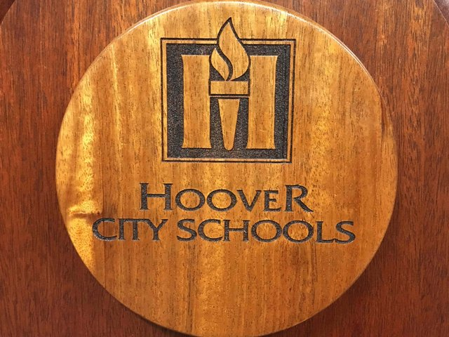 Hoover City Schools wooden logo