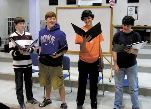 SPHS Choir Carnegie members boys
