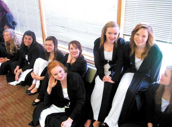 SPHS Choir Carnegie members girls