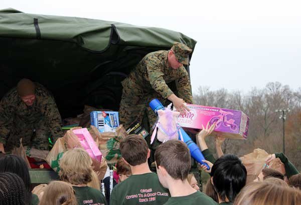 OMMS Toys for Tots marines