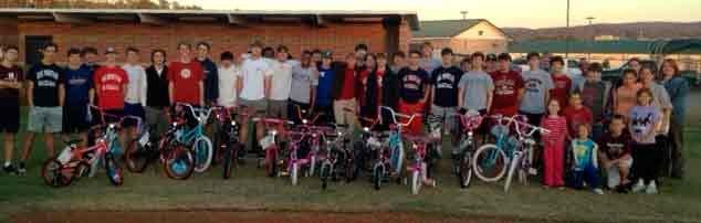 OMHS Baseball bicycles