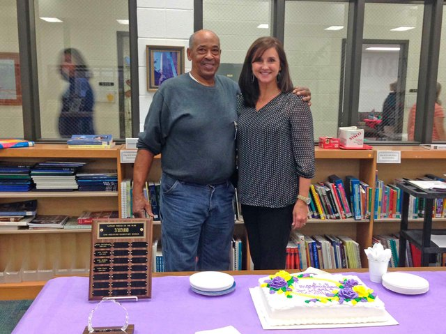 OMES staff member Willie Davis and teacher Lori Lancaster