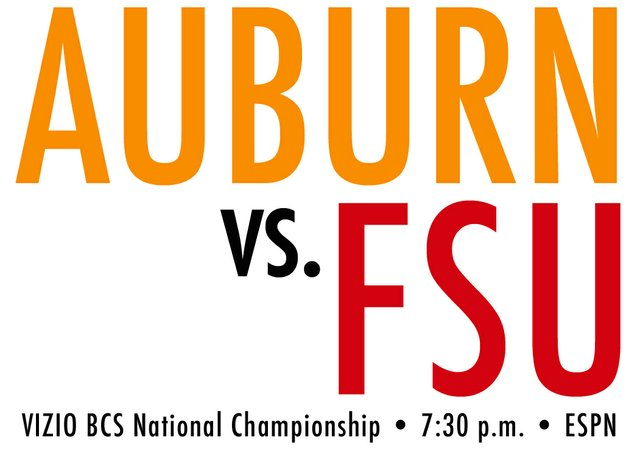 Auburn v Florida State 2014 National Championship banner