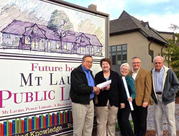 Mt Laurel Library deed presentation